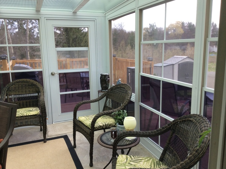 photo of a sunroom