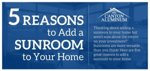 five reasons for a sunroom graphic