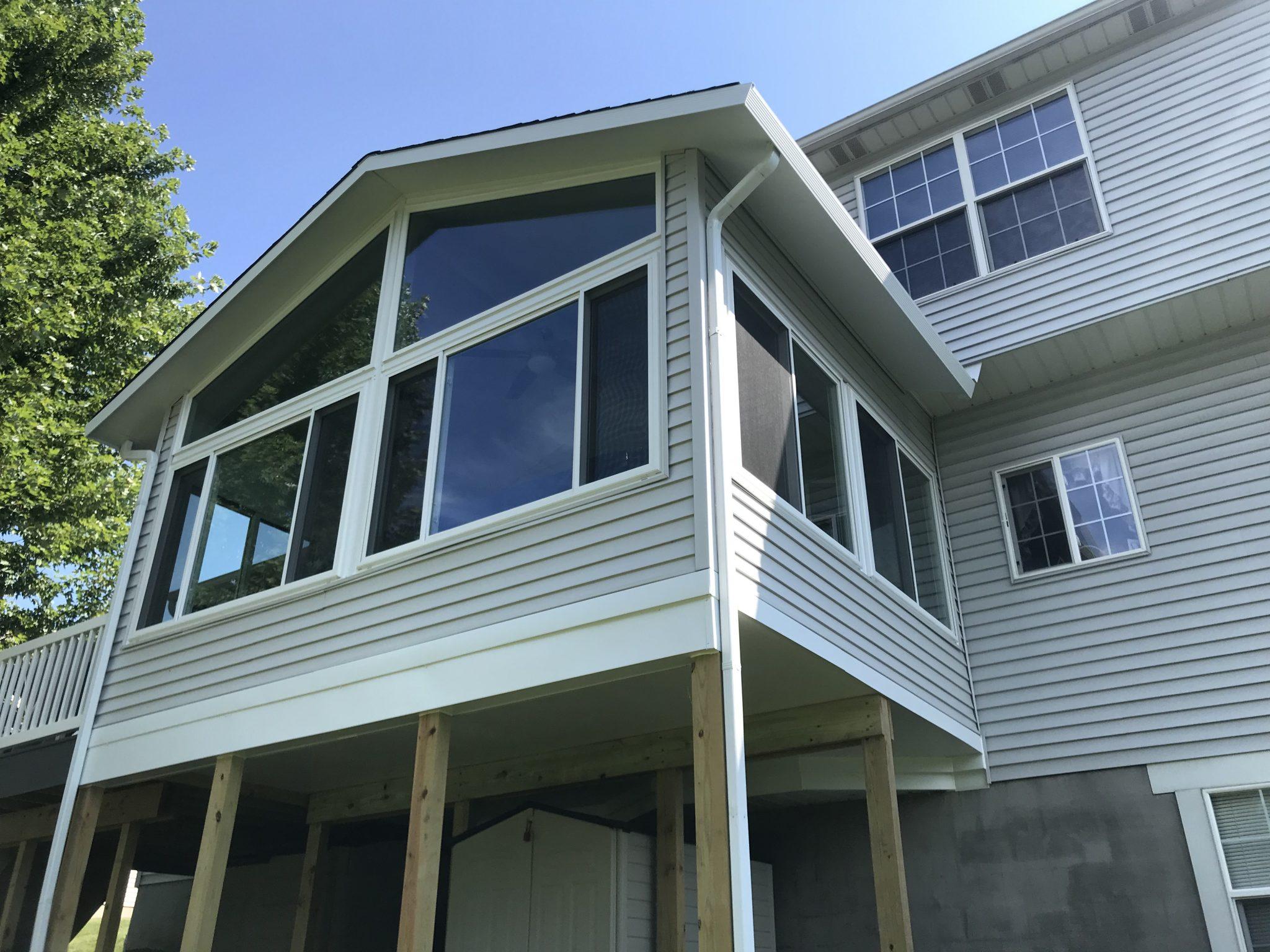 elevated 4 season room on wood columns