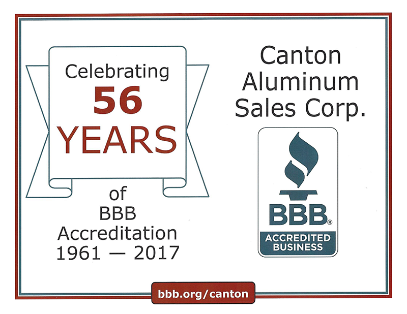 56 years of BBB accreditation