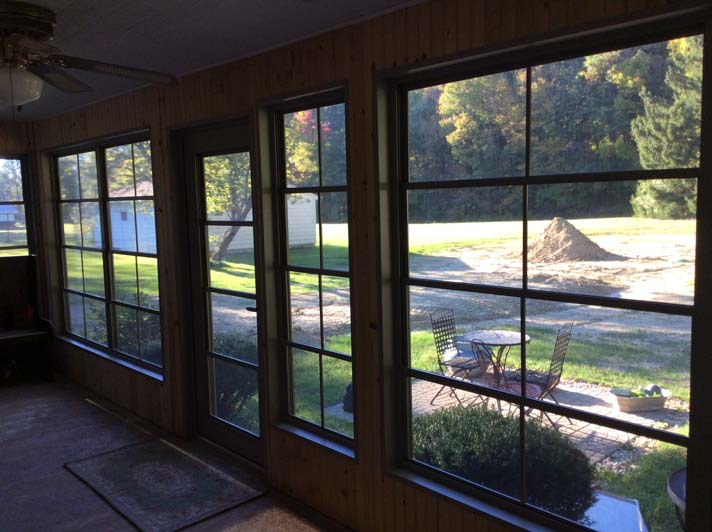 enclosed window install after photo