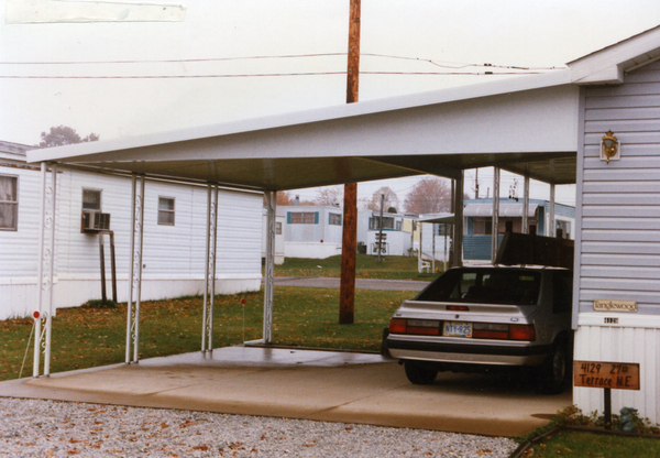 two vehicle carport installation image