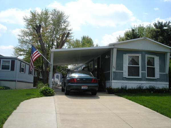 mobile home carport installation image