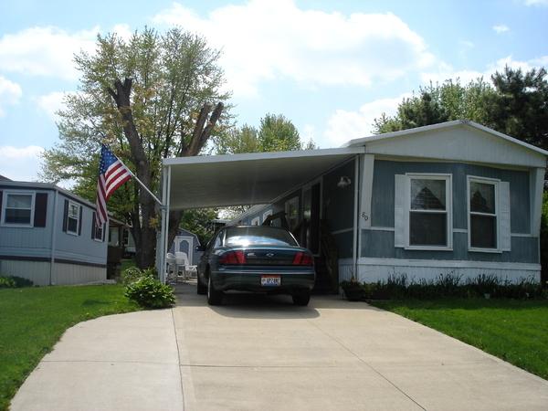 mobile home carport installation image