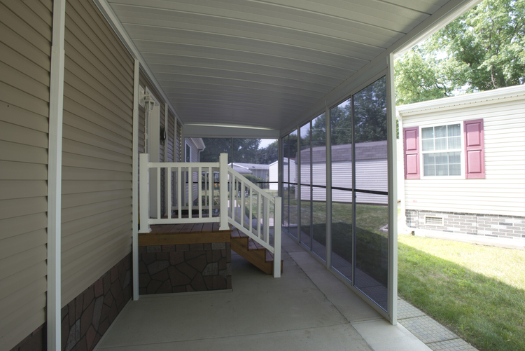 photo of a carport install
