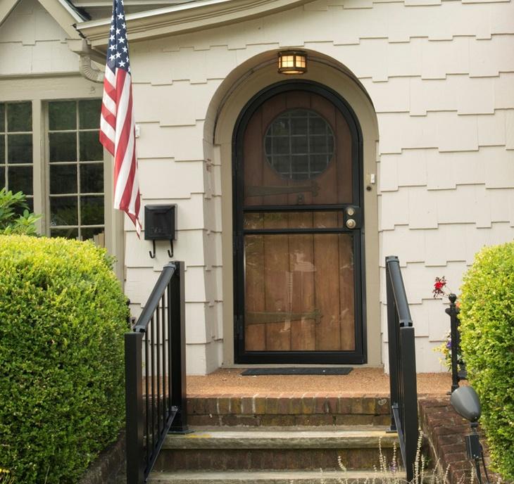 custom security storm door image