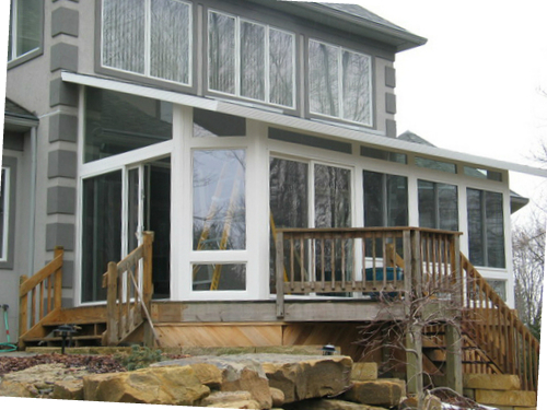 image of sunroom install