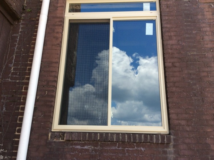 commercial window installation photo