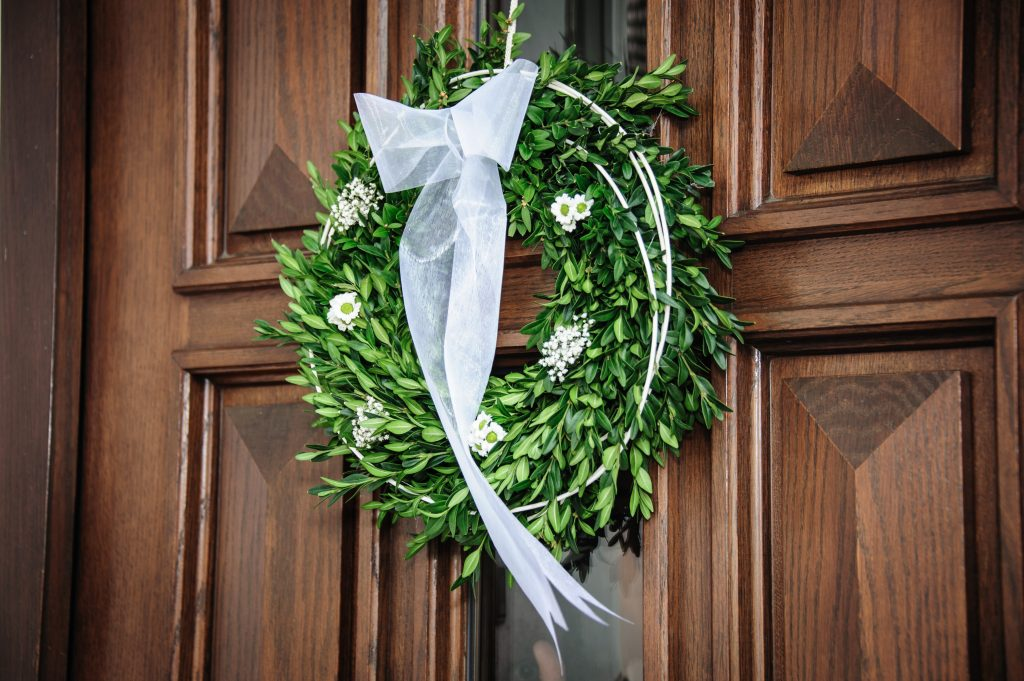 wreath on door image