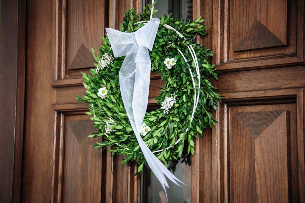 wreath on door image