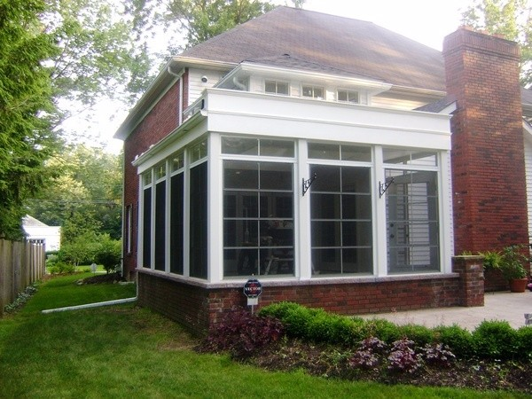 vertical four track window installation photo