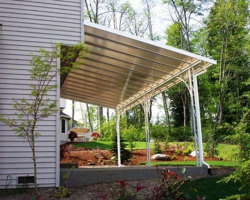 transparent patio cover installation image