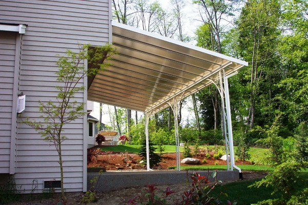 transparent patio cover installation image