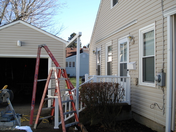awning installation progress picture