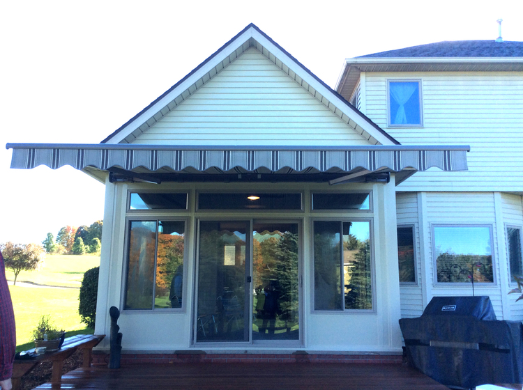 Four Season Room With Retractable Awning Canton Aluminum