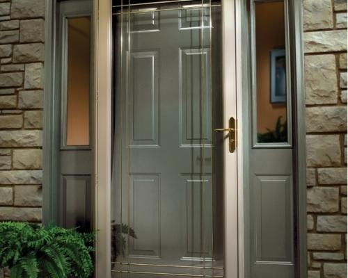 storm door install picture